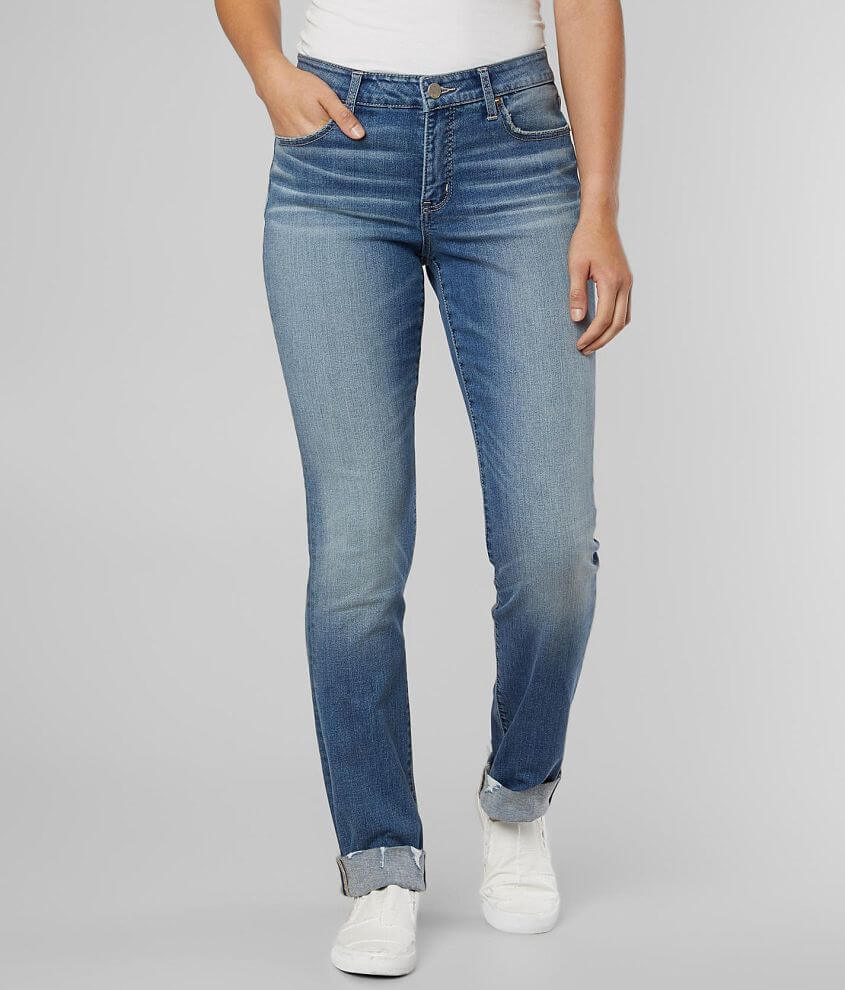 BKE Gabby Straight Stretch Cuffed Jean front view
