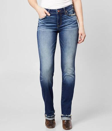 BKE Gabby High Rise Straight Stretch Cuffed Jean