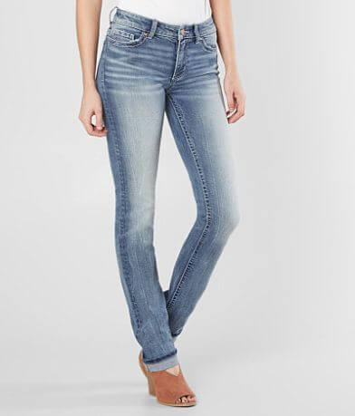 BKE Stella Mid-Rise Straight Stretch Cuffed Jean