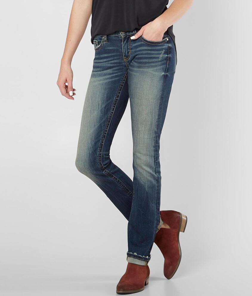 BKE Stella Straight Stretch Cuffed Jean front view