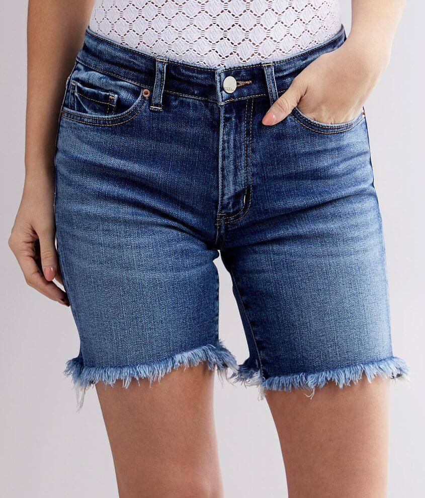 BKE Stella Mid-Rise Stretch Short front view