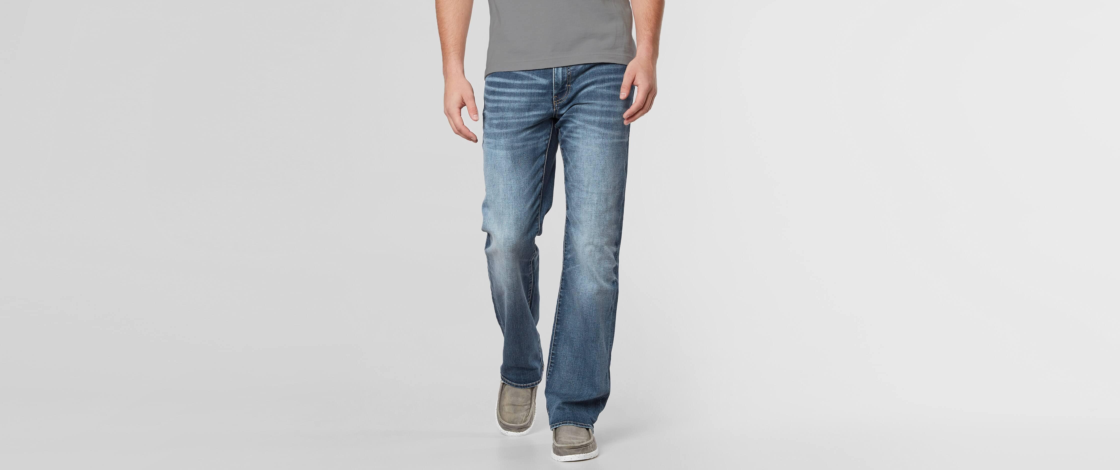 Mens wide leg bootcut jeans