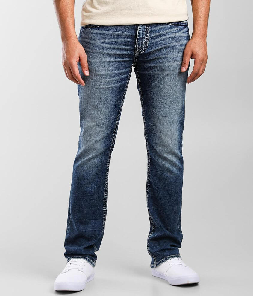 BKE Alec Straight Knit Stretch Jean front view