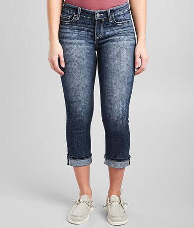 BKE Victoria Cuffed Stretch Cropped Jean