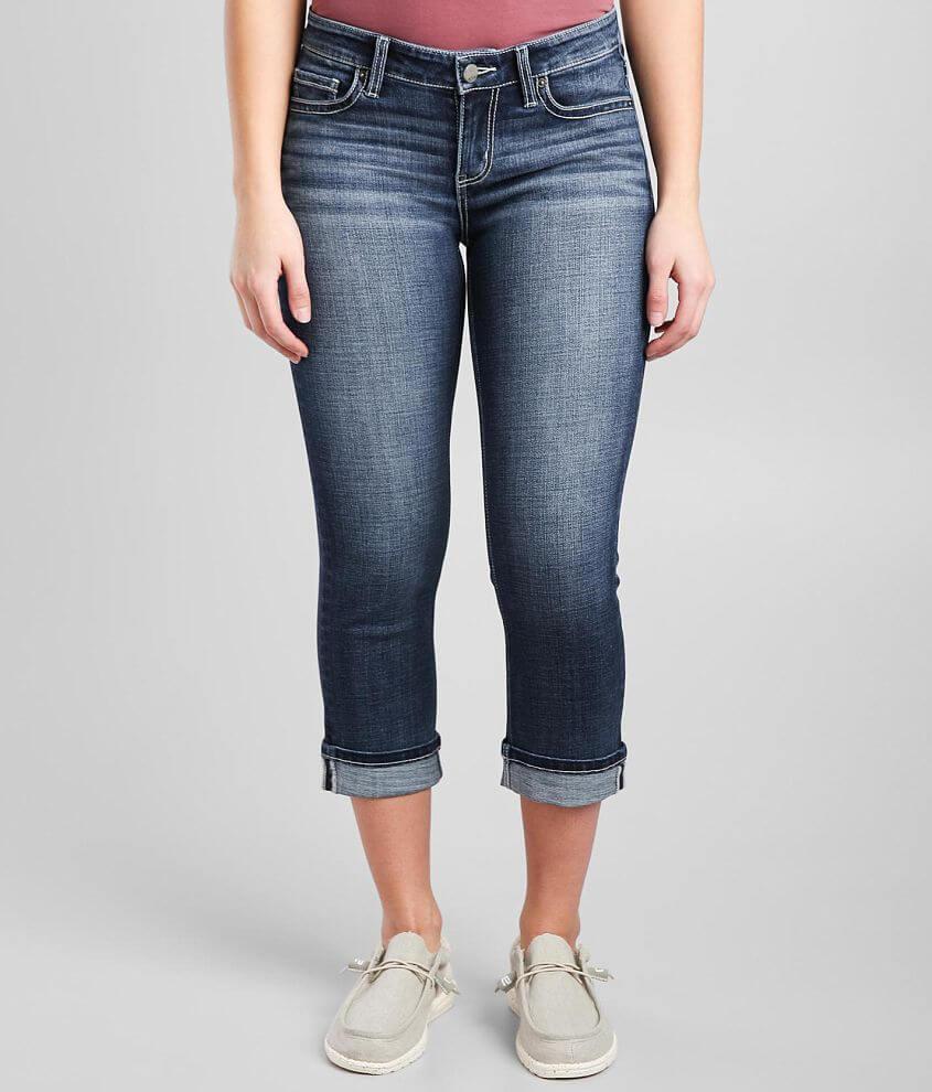 BKE Victoria Cuffed Stretch Cropped Jean front view