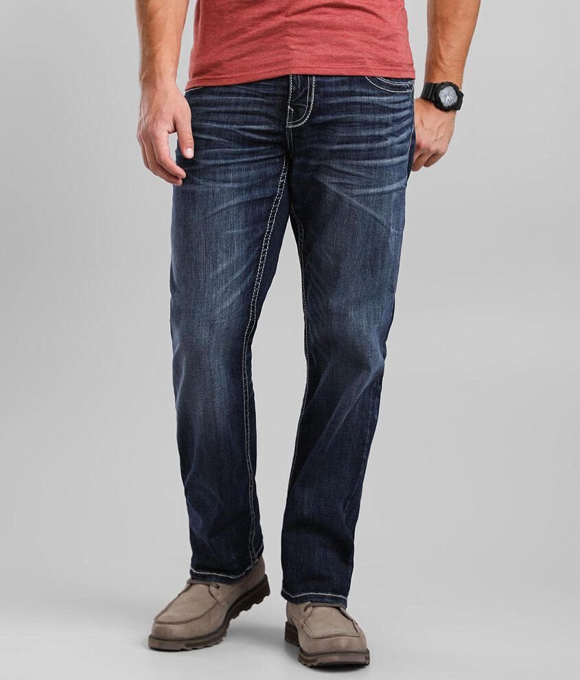 Buckle Black Eleven Straight Jean front view