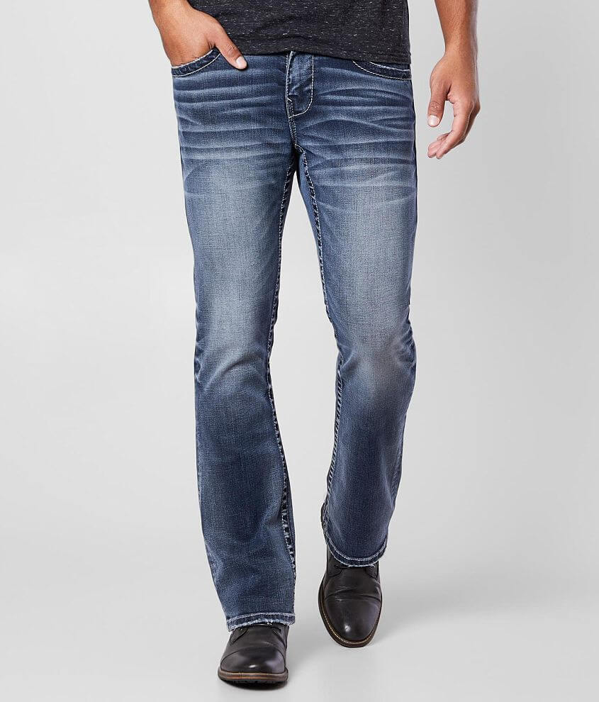 Buckle Black Three Boot Stretch Jean front view