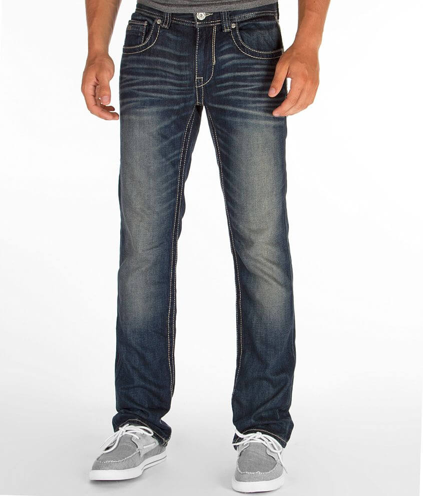 Buckle Black Three Straight Jean front view