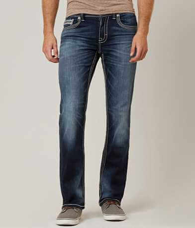 Buckle Black Three Straight Stretch Jean