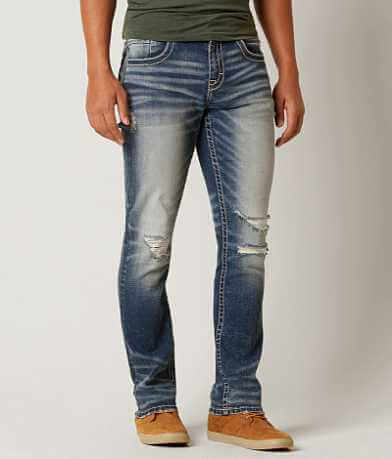 Buckle Black Three Straight Straight Stretch Jean