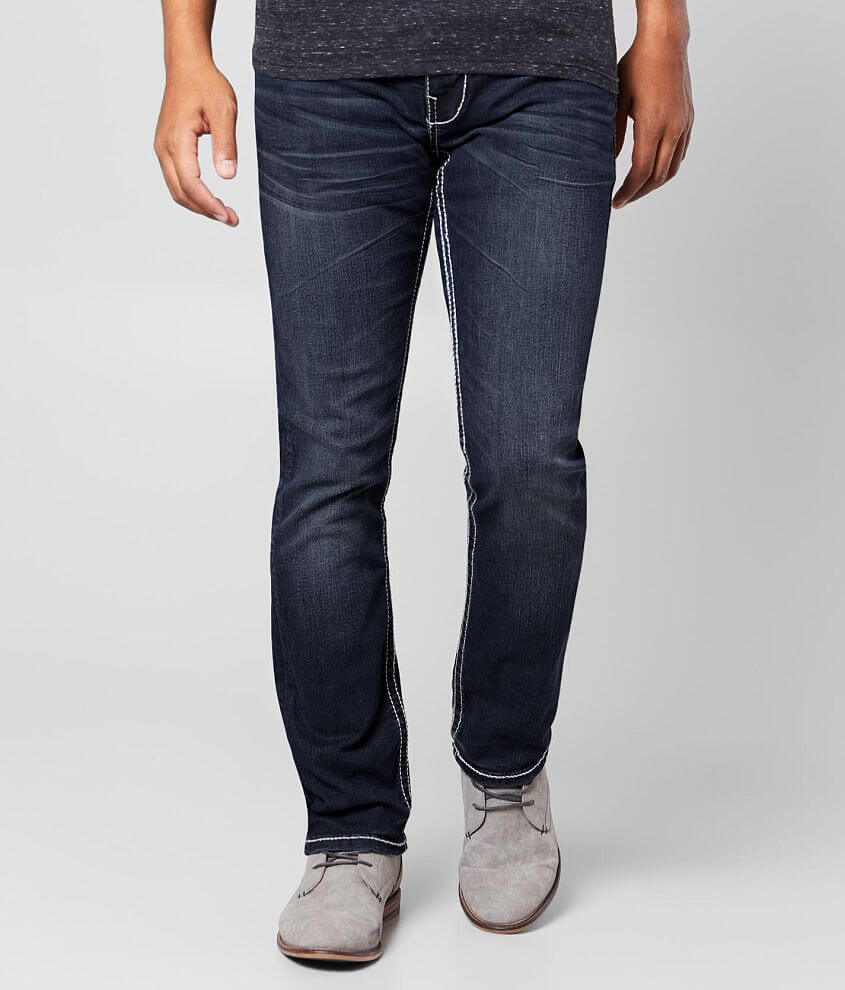 Buckle Black Three Straight Stretch Jean front view