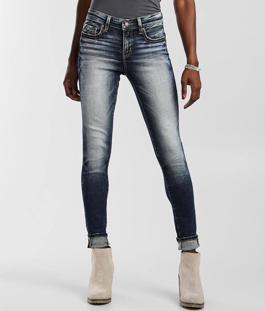 Buckle Black Mid-Rise Fit No. 53 Skinny Jean front view