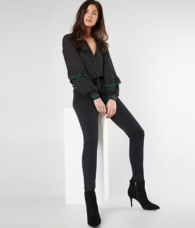 Buckle Black Sculpted High Rise Ankle Skinny Jean