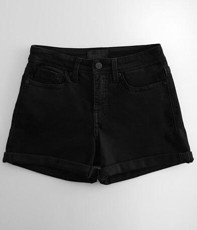 Buckle Black High Rise Mom Cuffed Short