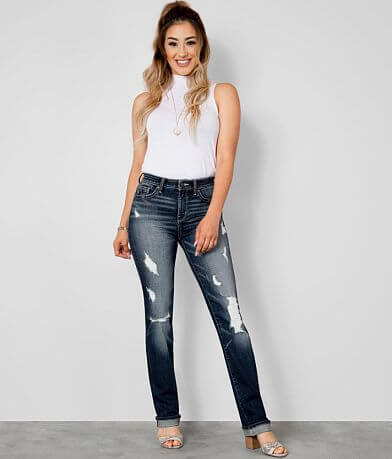 Buckle Black Curvy Straight Stretch Jean