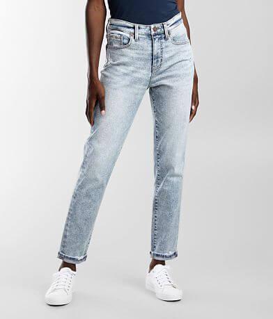 Buckle Black Mom Cuffed Jean