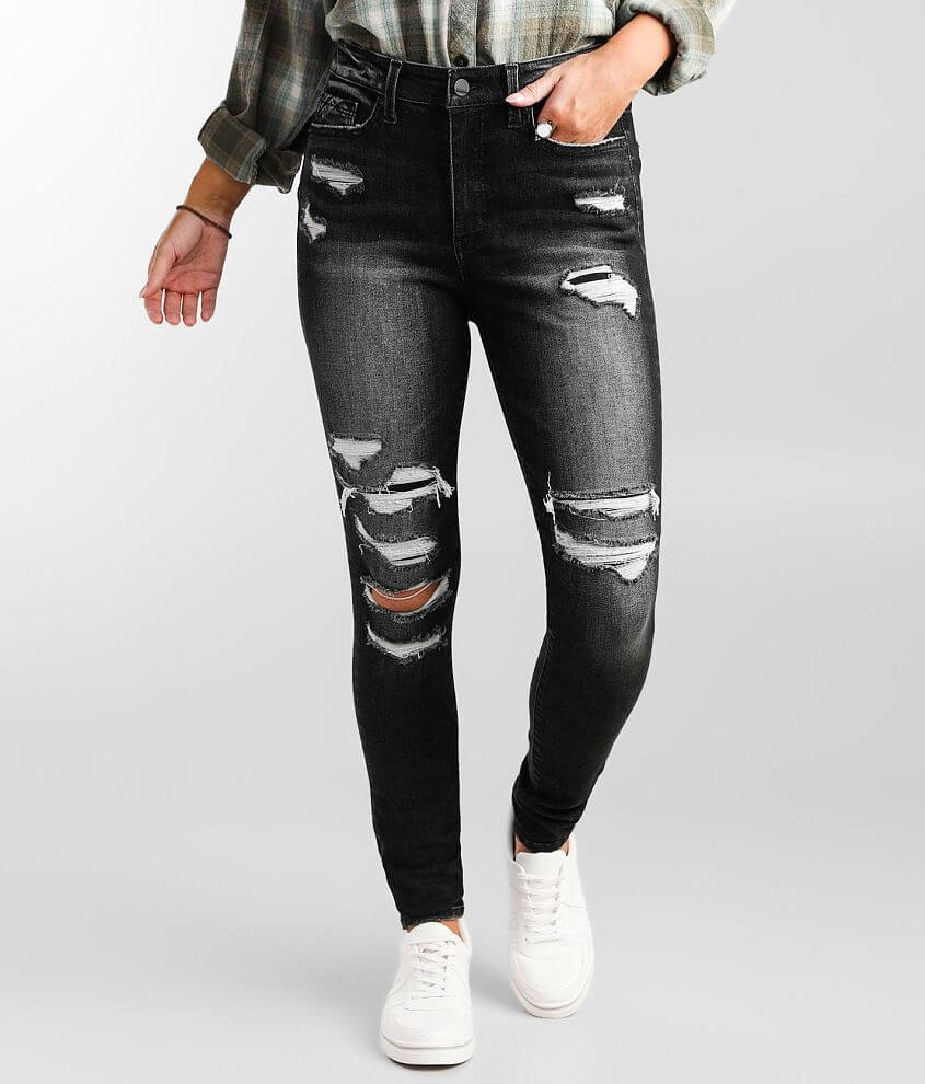 Buckle Black Fit No. 75 Skinny Stretch Jean front view