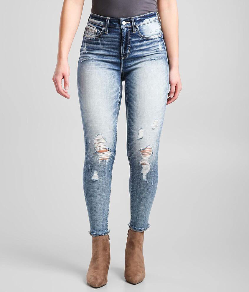 Buckle Black Fit 75 High Rise Ankle Skinny Jean front view