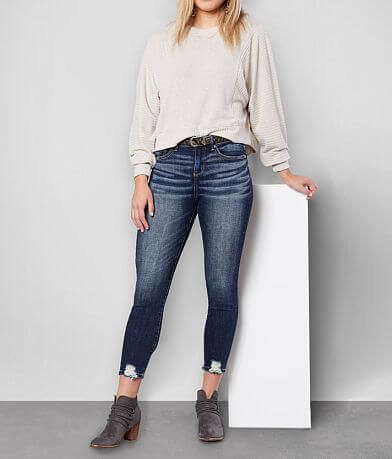 Buckle Black Curvy Mid-Rise Ankle Skinny Jean