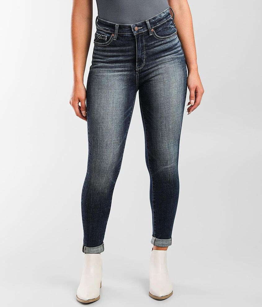 Buckle Black Fit No 75 High Rise Ankle Skinny Jean front view