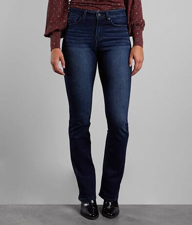 Buckle Black Curvy Mid-Rise Boot Stretch Jean