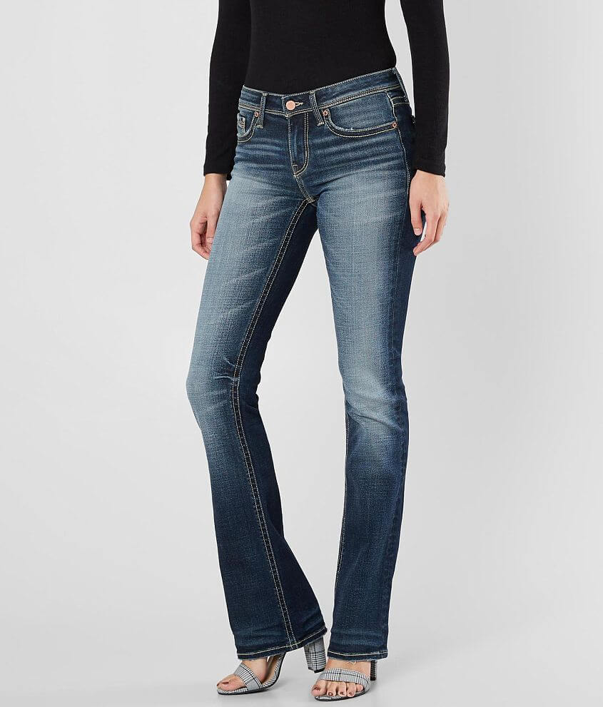 Buckle Black Fit No. 53 Boot Stretch Jean front view