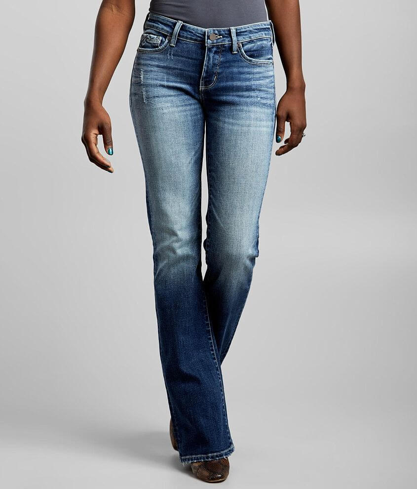 Buckle Black Fit No. 53 Mid-Rise Boot Stretch Jean front view