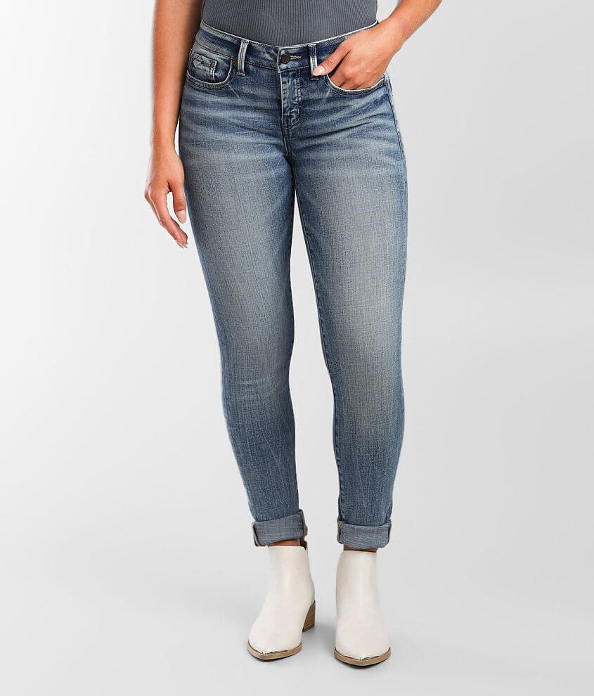 Buckle Black Fit No 53 Mid-Rise Skinny Jean front view