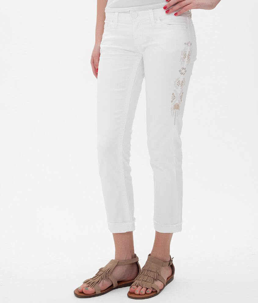Daytrip Leo Embroidered Stretch Cropped Jean front view