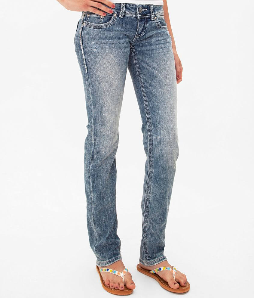 Style DBK120/Skus 105295, 105297, 105298 Super low rise zip fly stretch jean Slim through the hip and thigh 14\\\