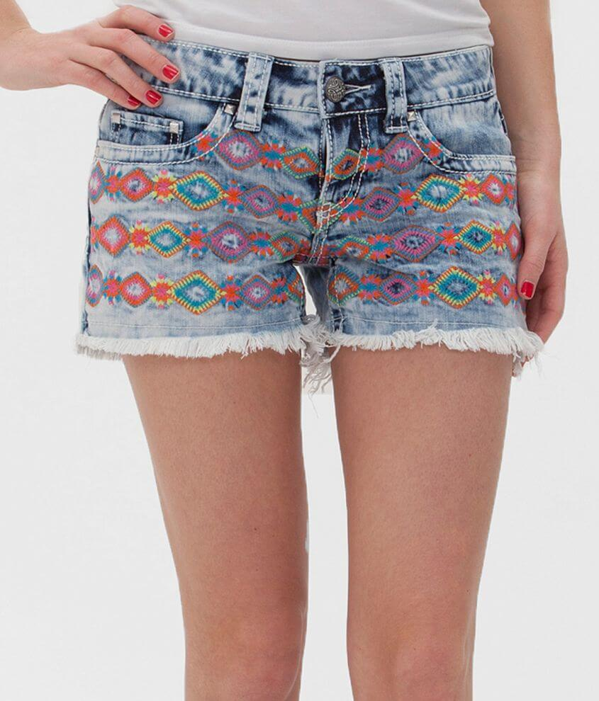 Daytrip Capricorn Embroidered Stretch Short front view