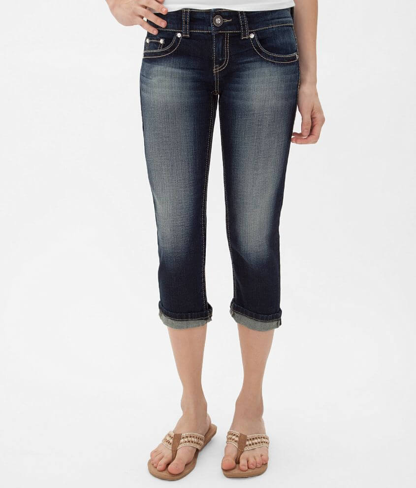 Daytrip Aquarius Stretch Cropped Jean front view