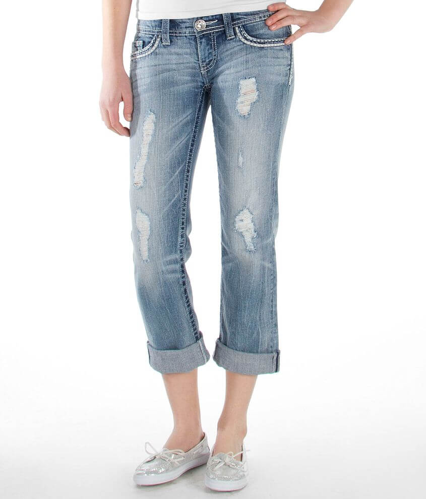 Daytrip Leo Stretch Cropped Jean front view