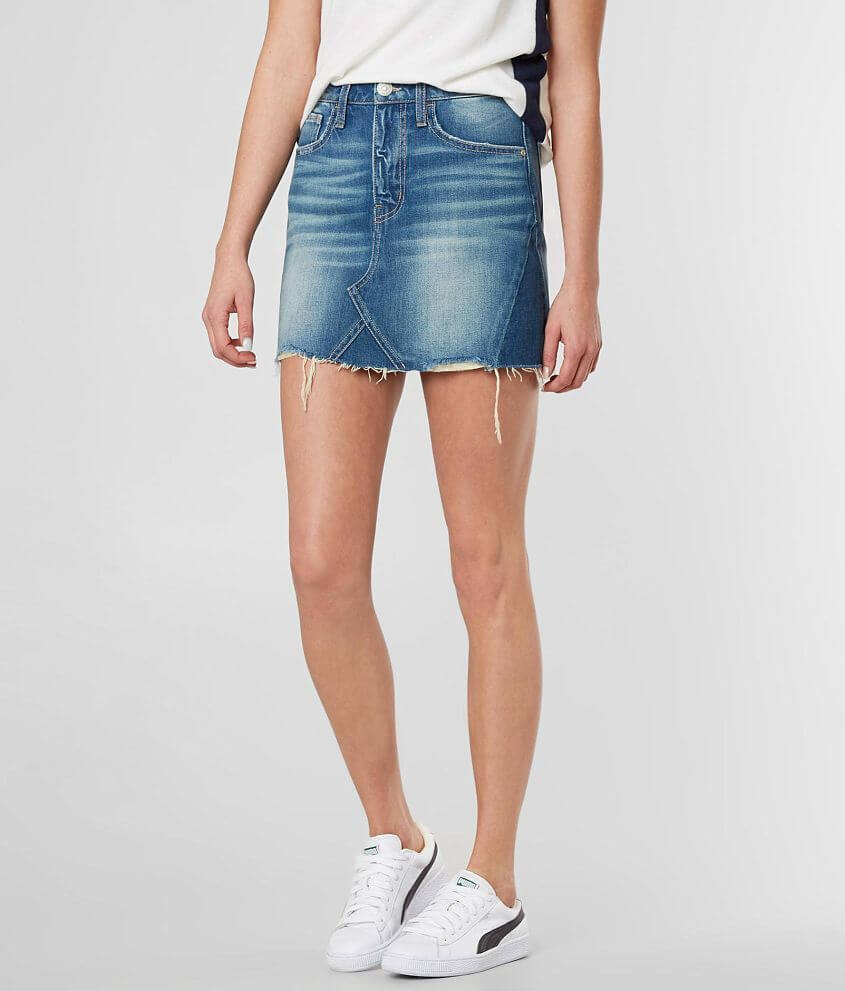 Daytrip Refined Frayed Denim Skirt front view