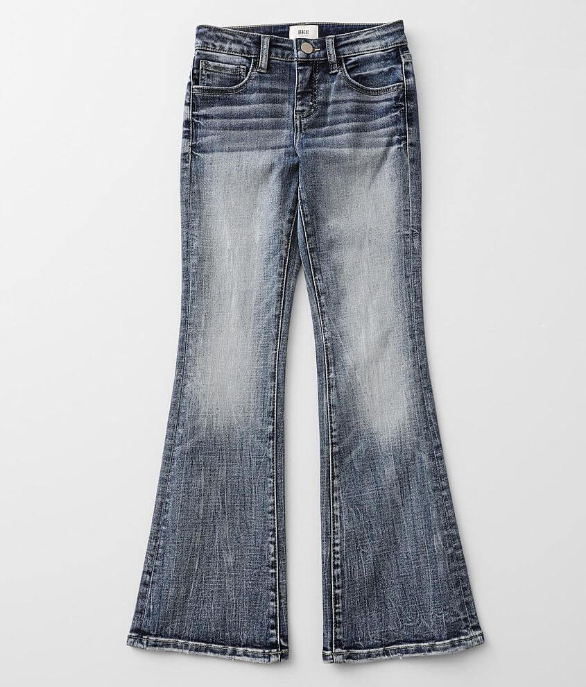 Girls -BKE Slim Fit Mid-Rise Boot Stretch Jean front view