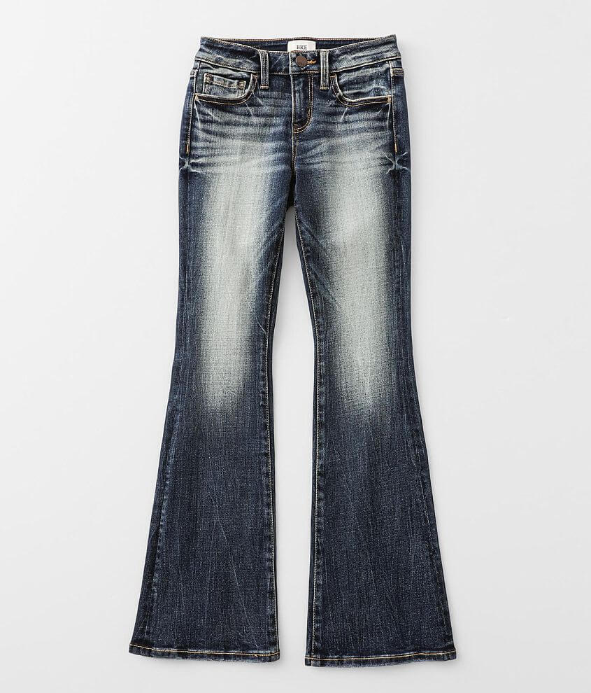 Girls - BKE Slim Fit Mid-Rise Boot Stretch Jean front view
