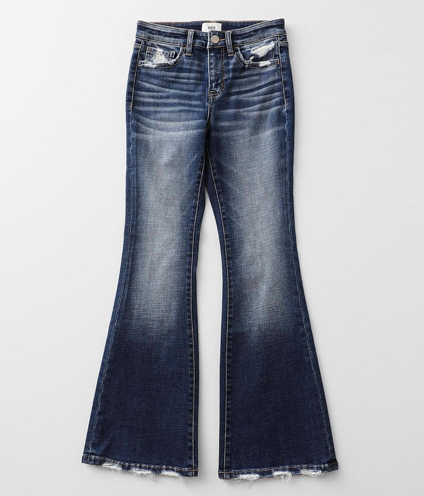 Girls - BKE High Rise Flare Stretch Jean front view