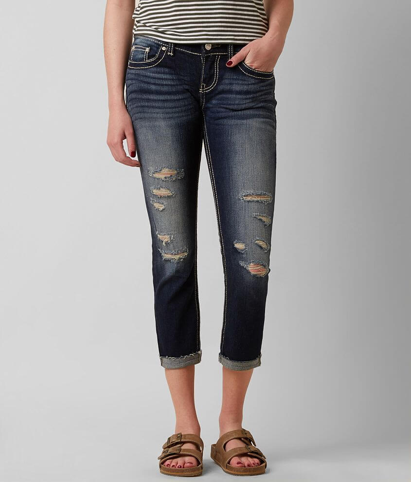 BKE Stella Skinny Stretch Cropped Jean front view