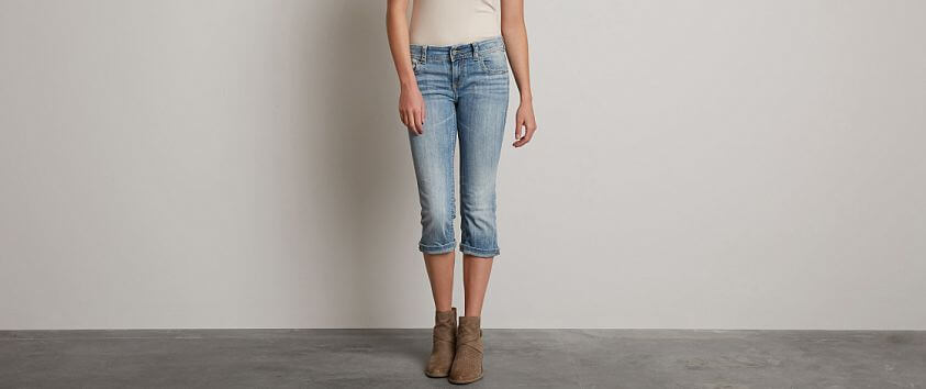 Buckle Black Fit No. 129 Stretch Cropped Jean front view