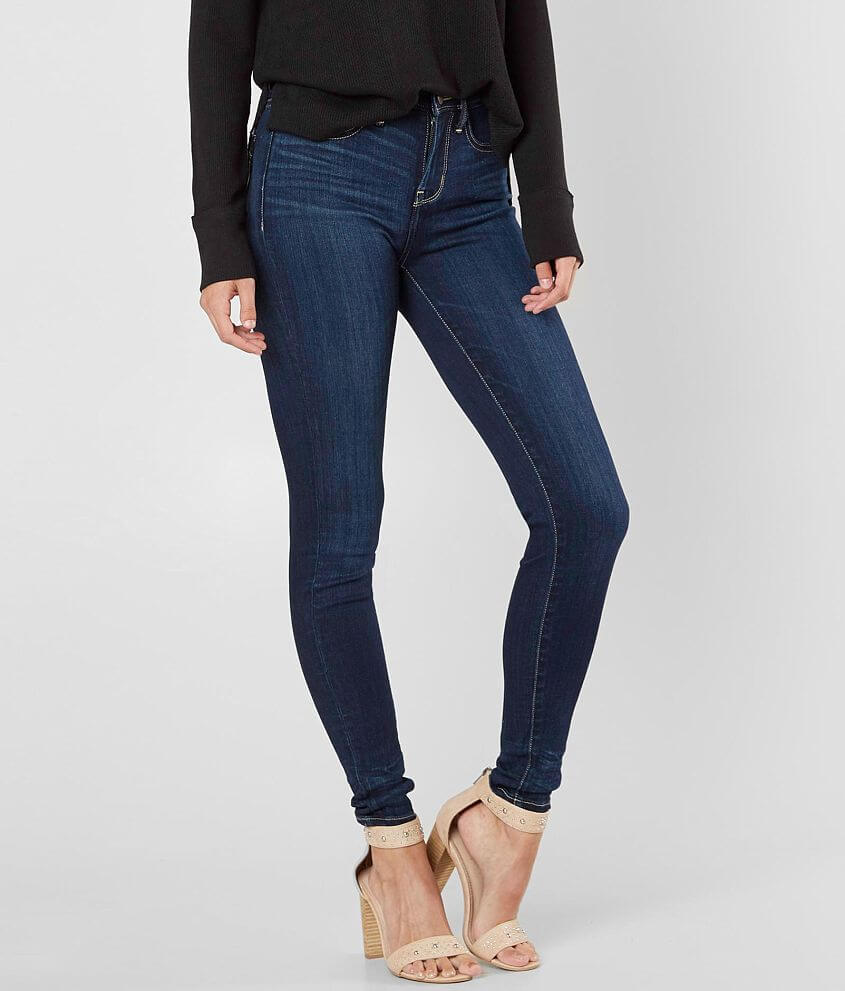Buckle Black Fit No 53 High Rise Ankle Skinny Jean front view