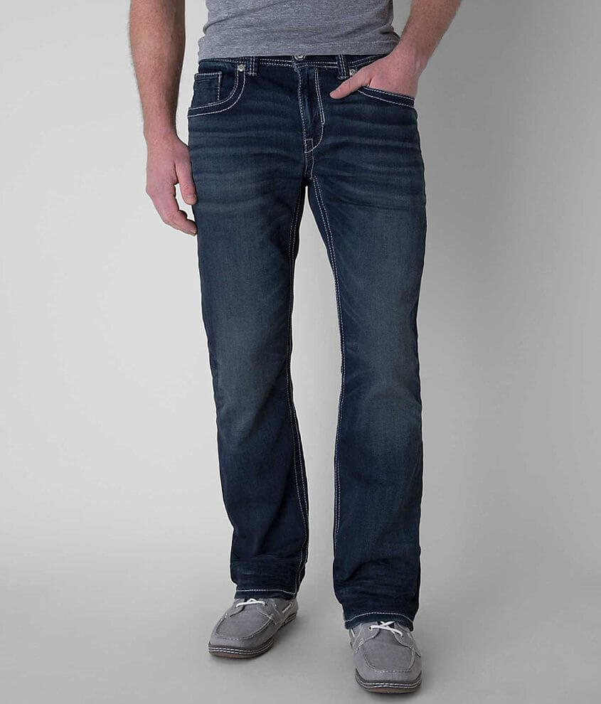 Buckle Black Three Knit Jean front view