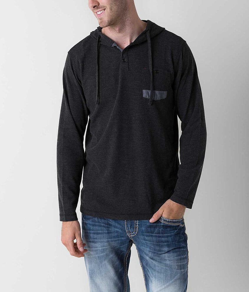 Thread & Cloth Thermal Henley Hoodie front view