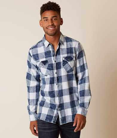 Thread & Cloth Acid Wash Flannel Shirt