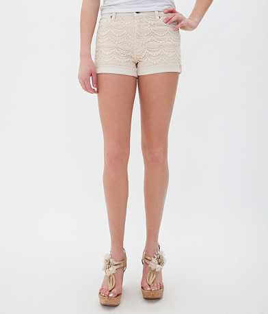 15 FIFTEEN Lace Overlay Stretch Short