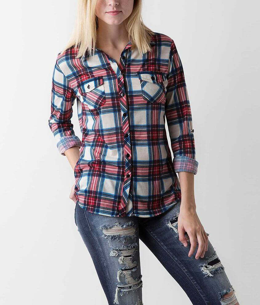 Urban Collection Plaid Shirt front view
