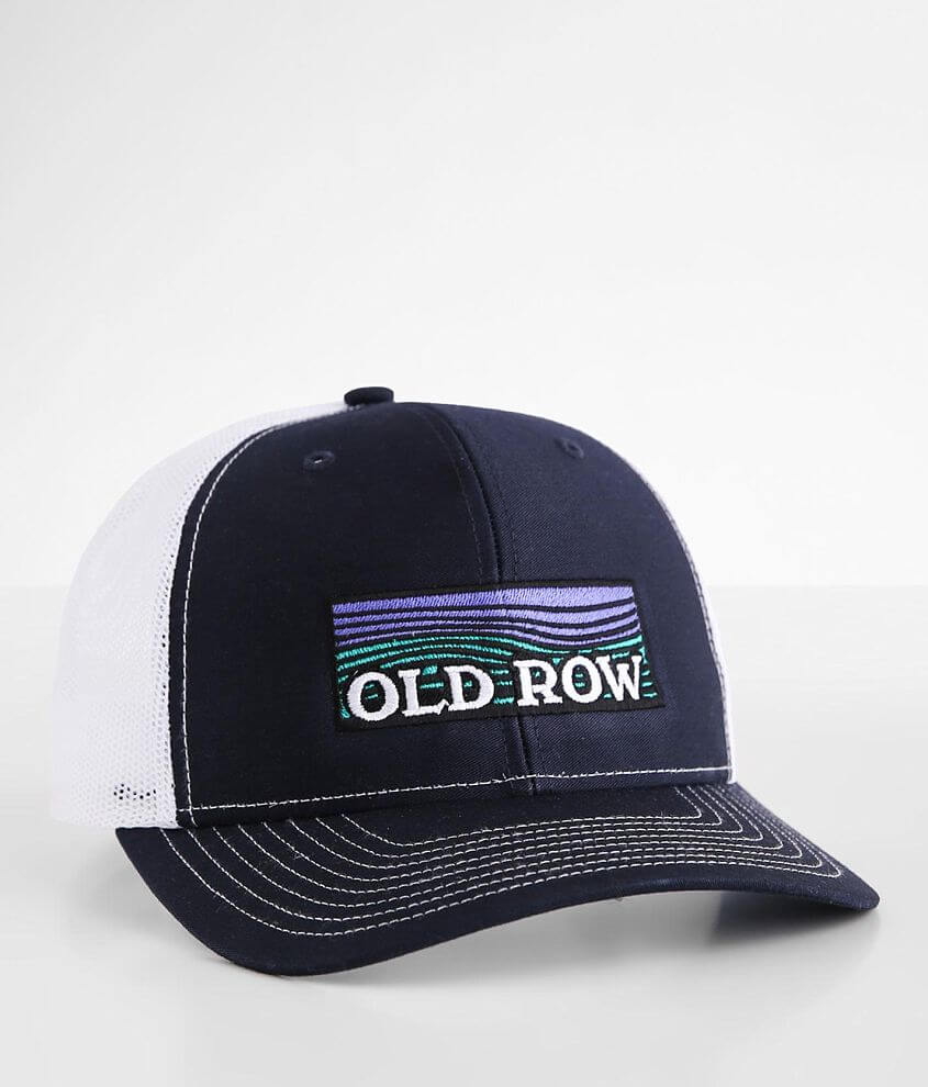Old Row Waves Trucker Hat front view