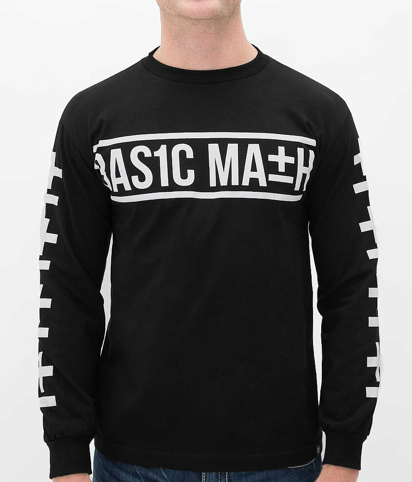 Basic Math X Symbol T Shirt Mens T Shirts In Black Buckle
