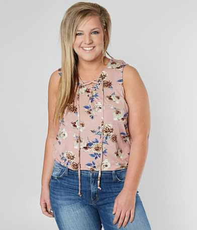 Daytrip Floral Tank Top - Plus Size Only