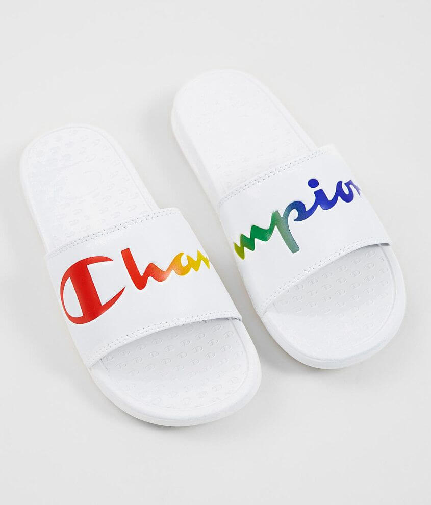 d2dfcca909ce Champion® Super Split Script Slide - Women s Shoes in White