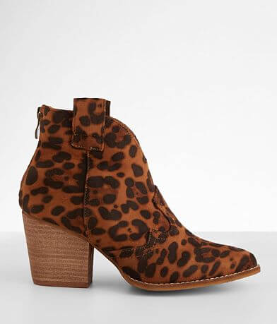 Beast Fashion Abby Leopard Ankle Boot